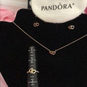 ❤️PANDORA❤️ jewelry set ( junior or girl size )